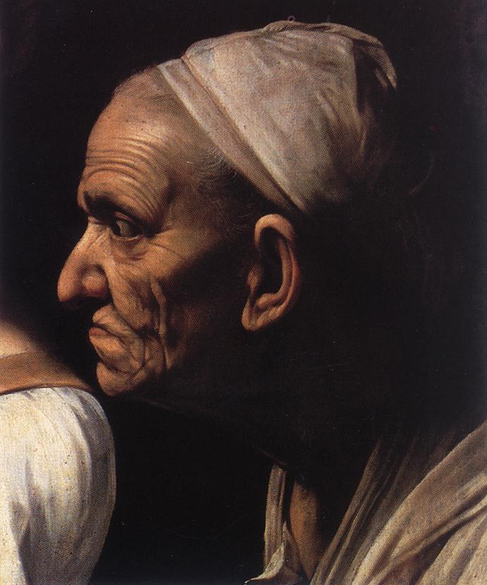 Michelangelo Merisi de Caravaggio. Judith slaying Holofernes. Fragment