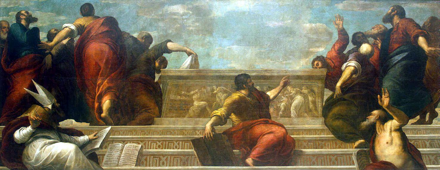 Якопо Пальма Младший. Апостолы у гроба Девы Марии