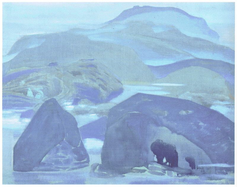 Nicholas Roerich. Northern landscape