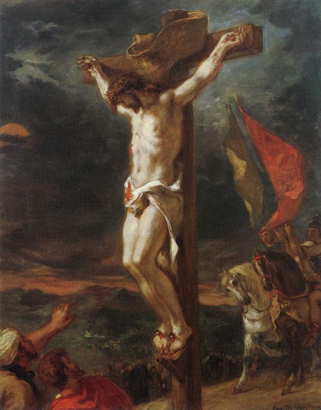 Eugene Delacroix. Jesus on the cross