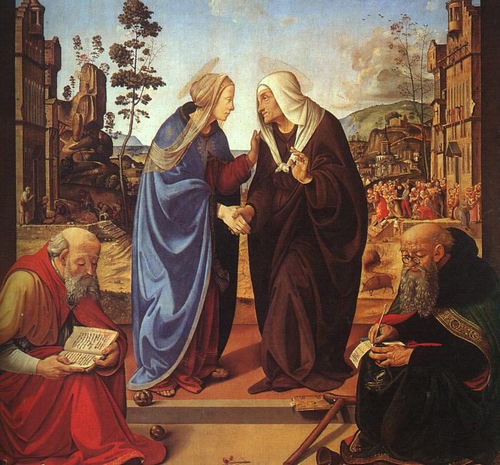 Пьеро ди Козимо. Встреча Марии и Елизаветы