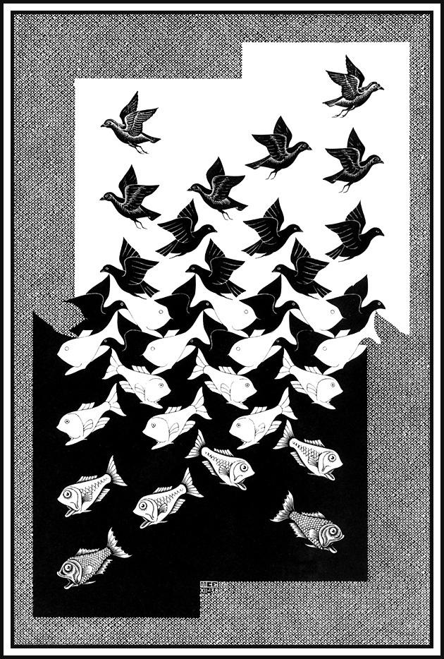 Мауриц Корнелис Эшер. Небо и вода2