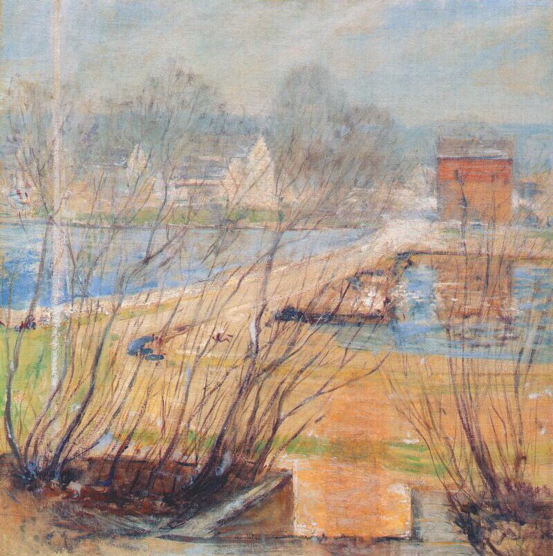 John Henry Twachtman. The view from the Holley house ,CT