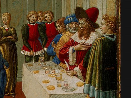 Беноццо Гоццоли. Танец Соломеи (фрагмент)