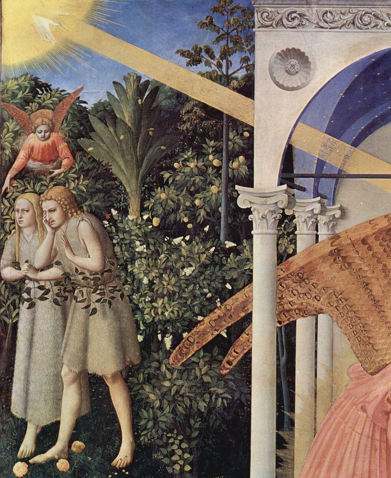 Фра Беато Анджелико. Изгнание Адама и Евы из рая Фрагмент алтаря Благовещение Марии