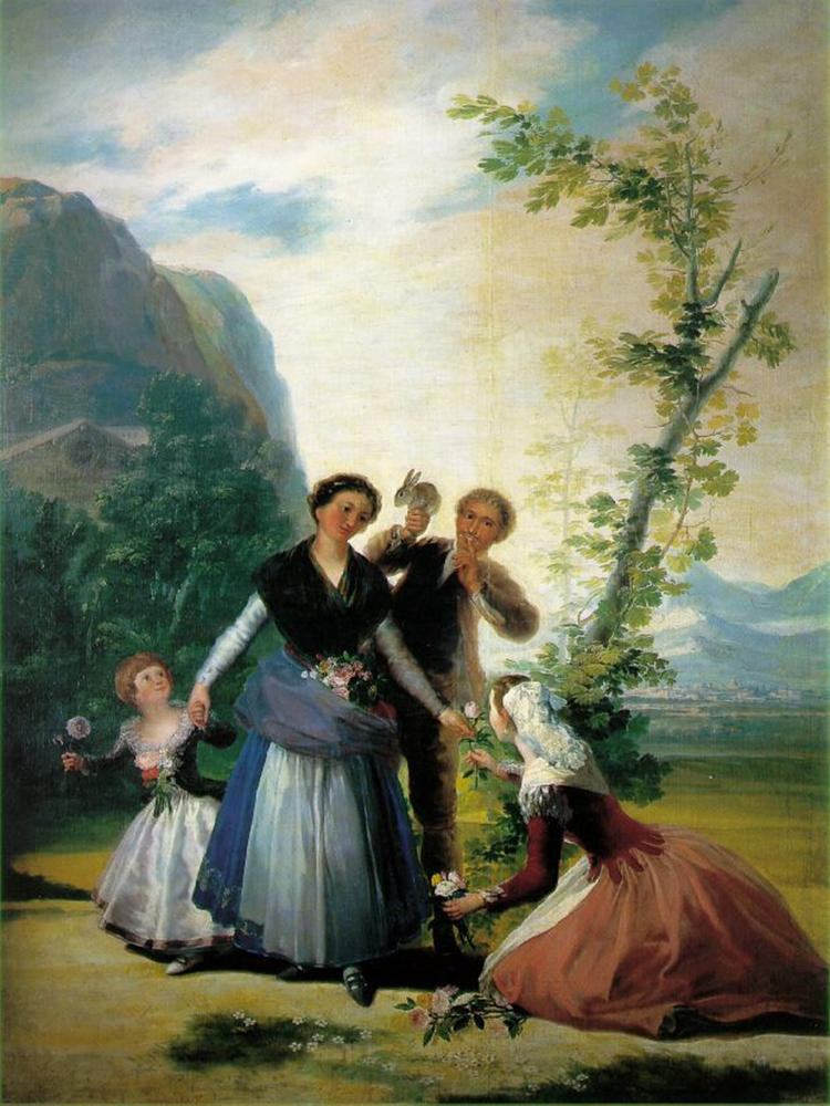 Франсиско Гойя. Цветочницы, или весной.