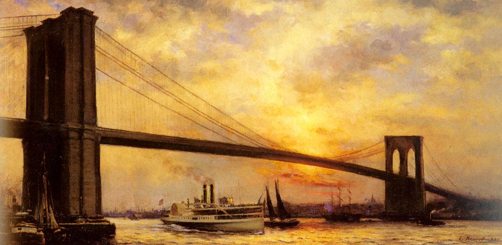 Эмиль Ренуф. Вид на Бруклинский мост