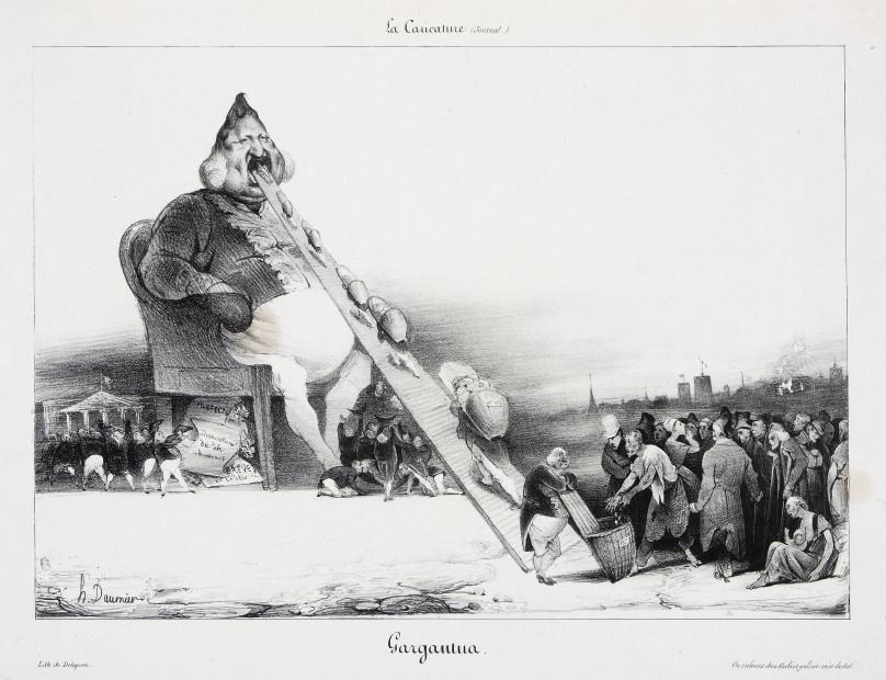 Honore Daumier. Gargantua