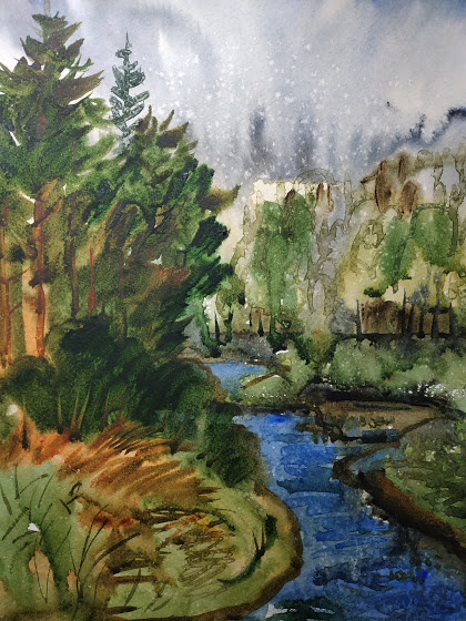 Natalia Gennadievna Torlopova. By the river