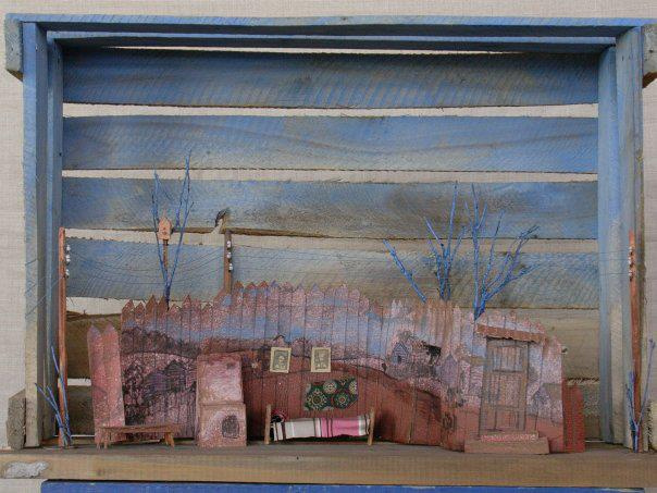 "Victor Veniaminovich Fesenko. Layout of the scenery for the play ""Vacations in Prostokvashino"". Severodvinsk Drama Theater."