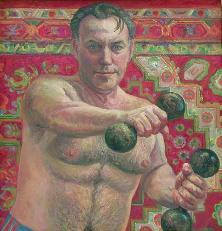 Anatoly Ivanovich Yakhrugin. Self-portrait