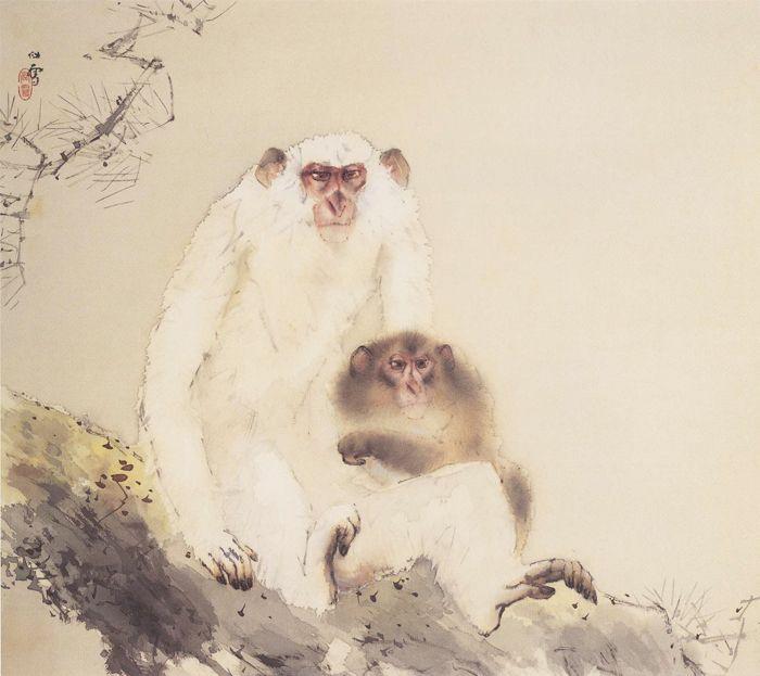 Хасимото  Кансэцу. Обезьяны