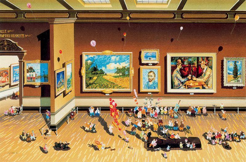 Хиро Ямагата. Картины на стенах