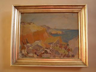 Unknown artist. Swedish sea coast landscape.