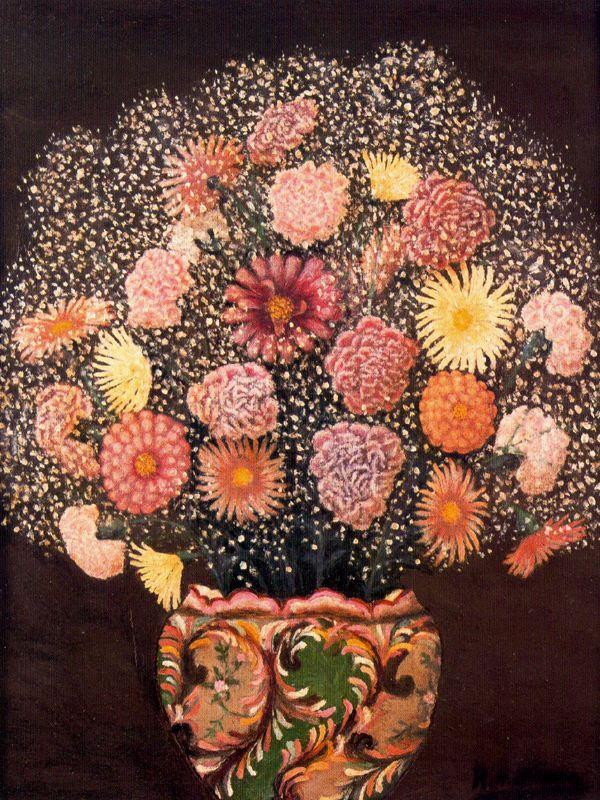 Хигинио Маллебрера. Розовый букет