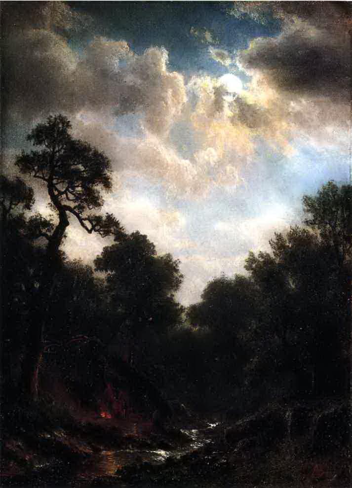 Альберт Бирштадт. Лунный пейзаж