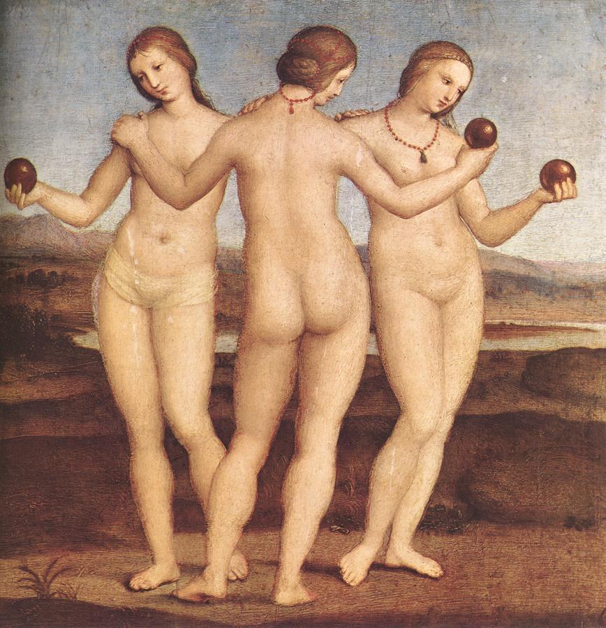 Raphael Sanzio. The three graces