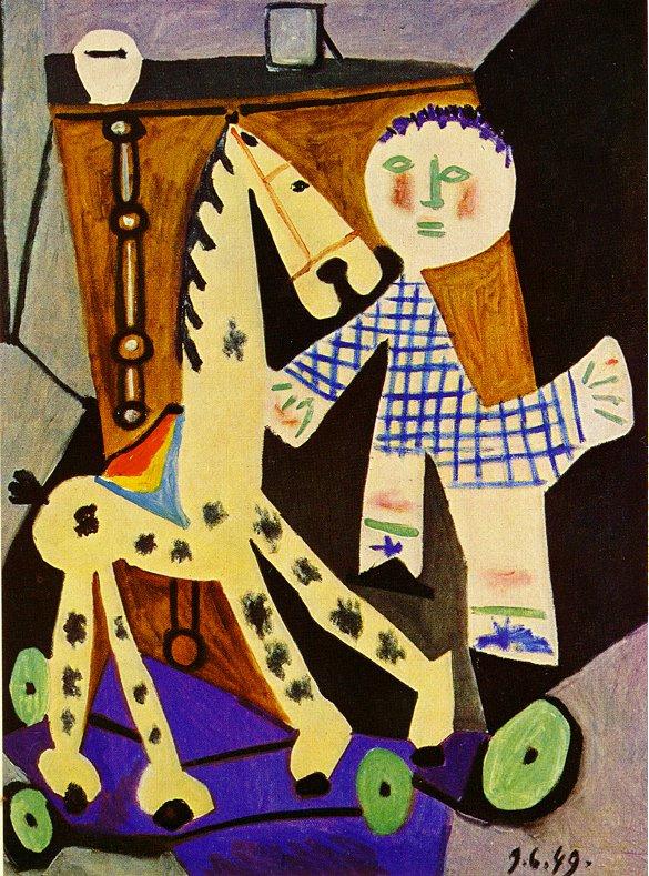 Пабло Пикассо. Двухлетний Клод и его любимая лошадка