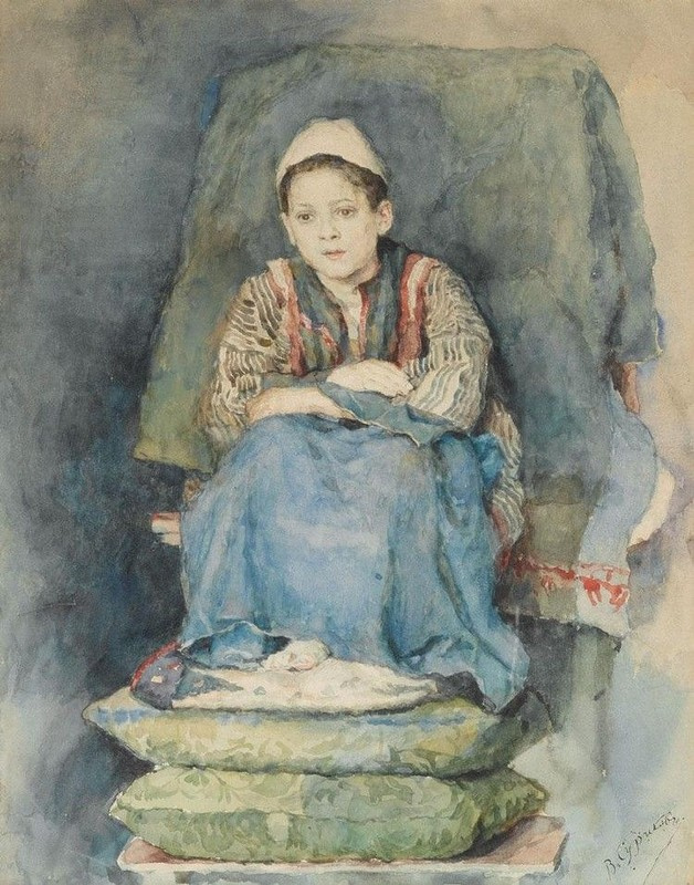 Vasily Ivanovich Surikov. Portrait of a boy