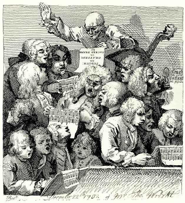 Уильям Хогарт. Певческий хор