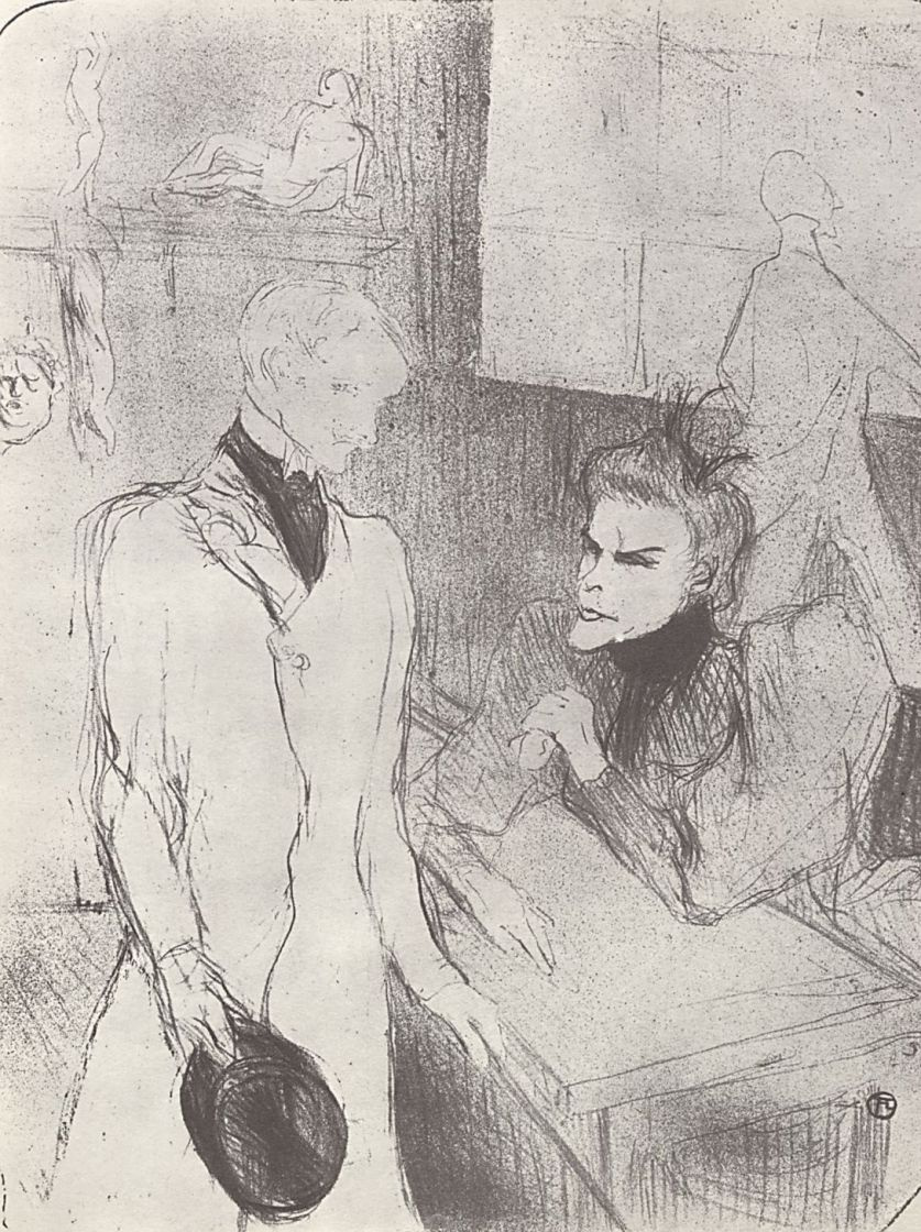"""Henri de Toulouse-Lautrec. Brand and Le Barges in the third act of """"Make-believers"""""""