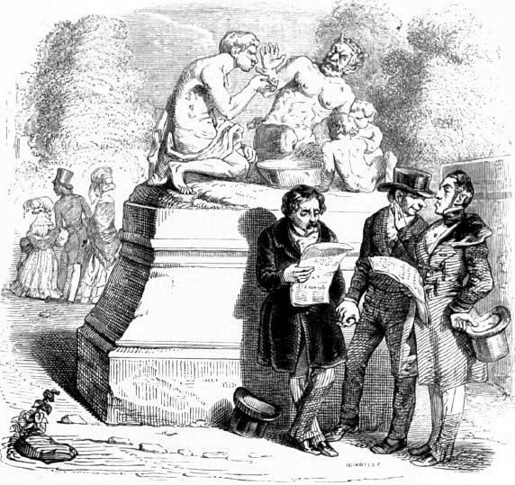 Жан Иньяс Изидор (Жерар) Гранвиль. Сатир и Прохожий. Иллюстрации к басням Жана де Лафонтена