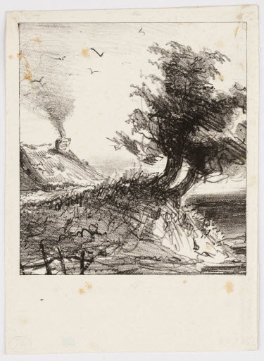 Eugene Delacroix. Seaside landscape