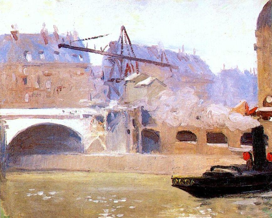 Edward Hopper. Tugboat at Boulevard Saint-Michel