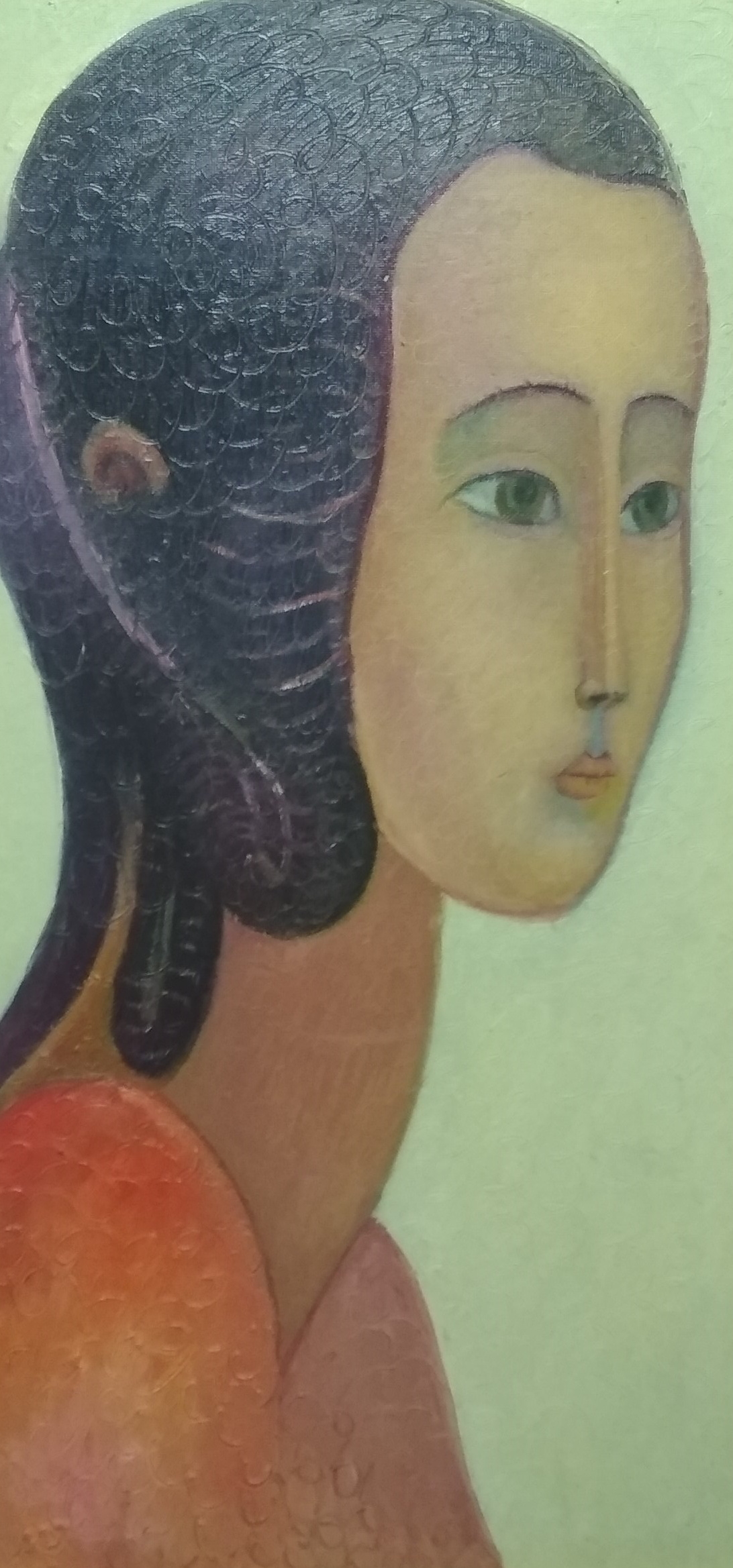 Rostislav Nikolaevich Ivanov. Woman portrait in red