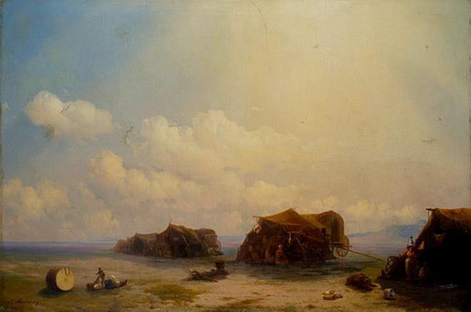 Ivan Aivazovsky. Chumaky (Gypsy camp)