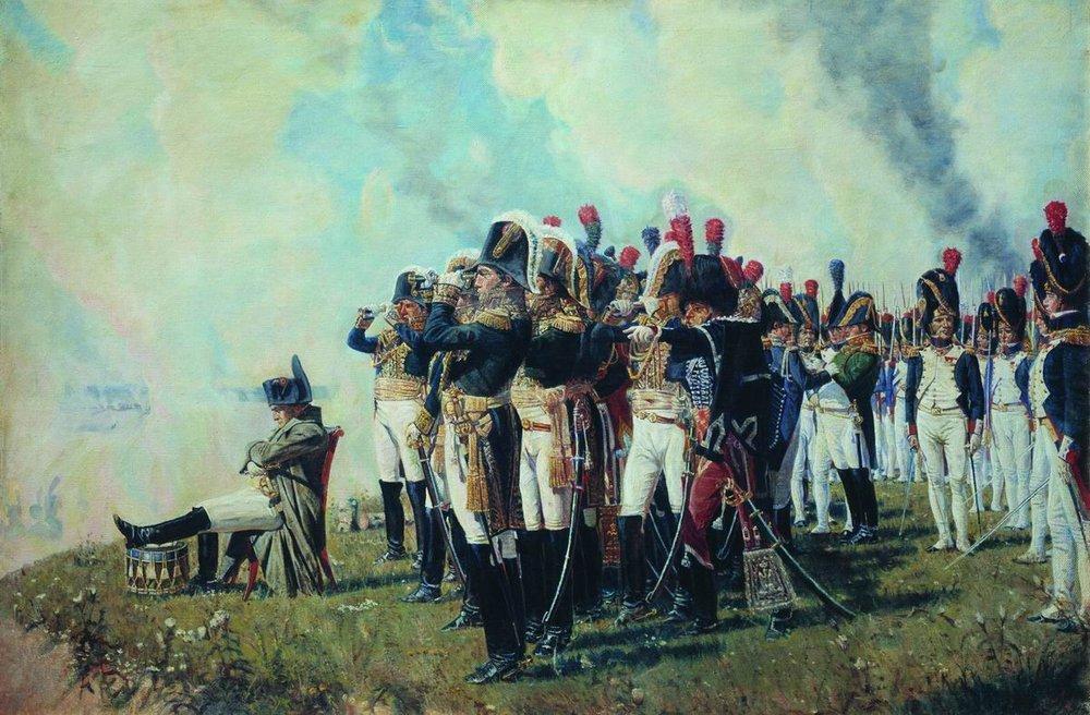 Василий Васильевич Верещагин. Наполеон I на Бородинских высотах