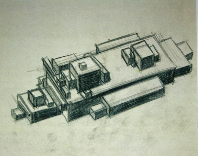 Ilya Grigorievich The chashnikov. Suprematist architecture. Sketch