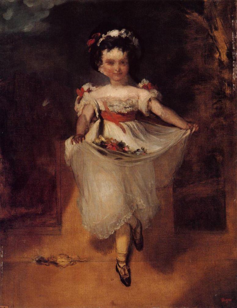 Эдгар Дега. Маленькая девочка, несущая цветы в переднике