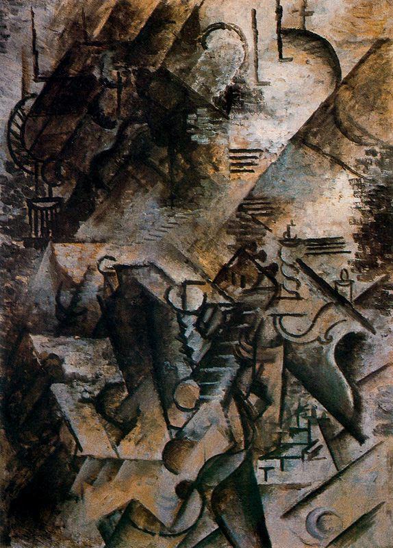 Пабло Пикассо. Женщина с гитарой у пианино