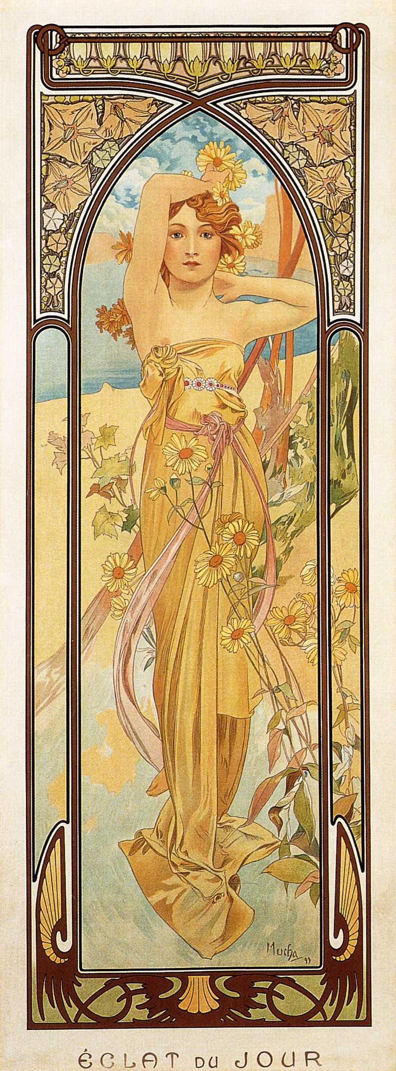 Alfons Mucha. Day impulse. Series times of the day