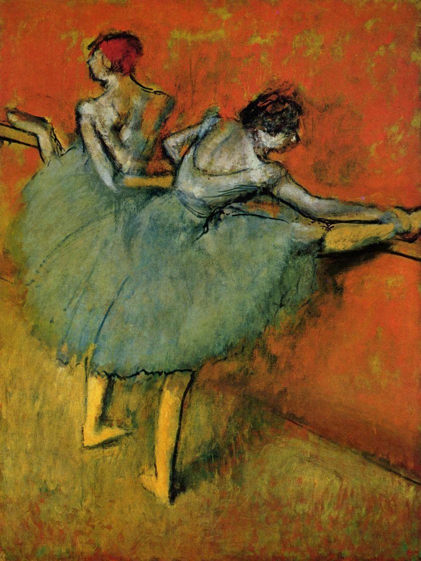 Edgar Degas. Dancers at the bar