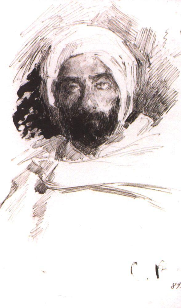 Sergey Arsenievich Vinogradov. Levitan in Bedouin clothes