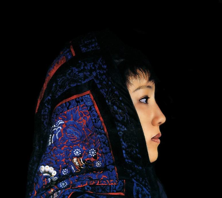 Guo Fang. Thoughtful girl