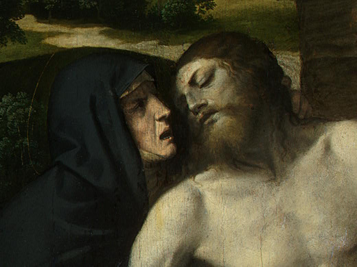Моретто да Брешиа. Фрагмент снятия со креста