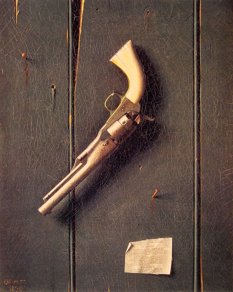 William Michael Harnett. Weapons
