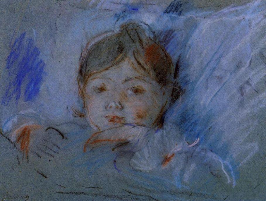 Берта Моризо. Ребенок в кровати