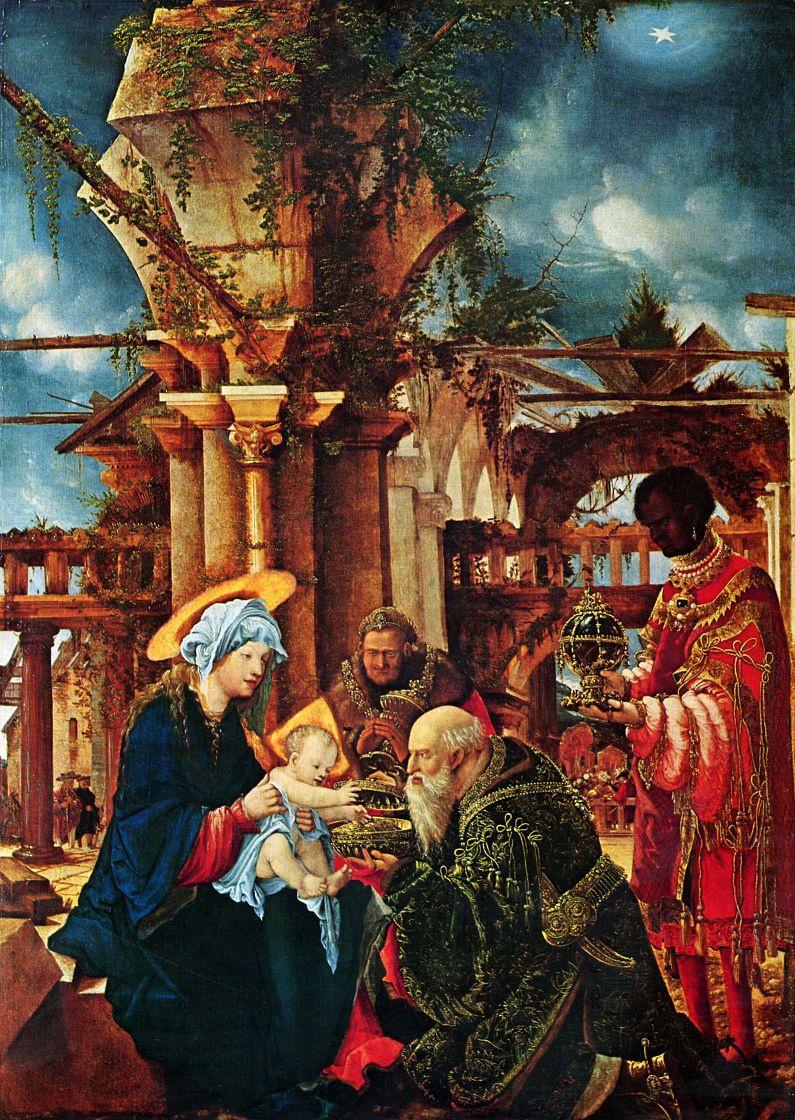 Albrecht Altdorfer. The adoration of the Magi