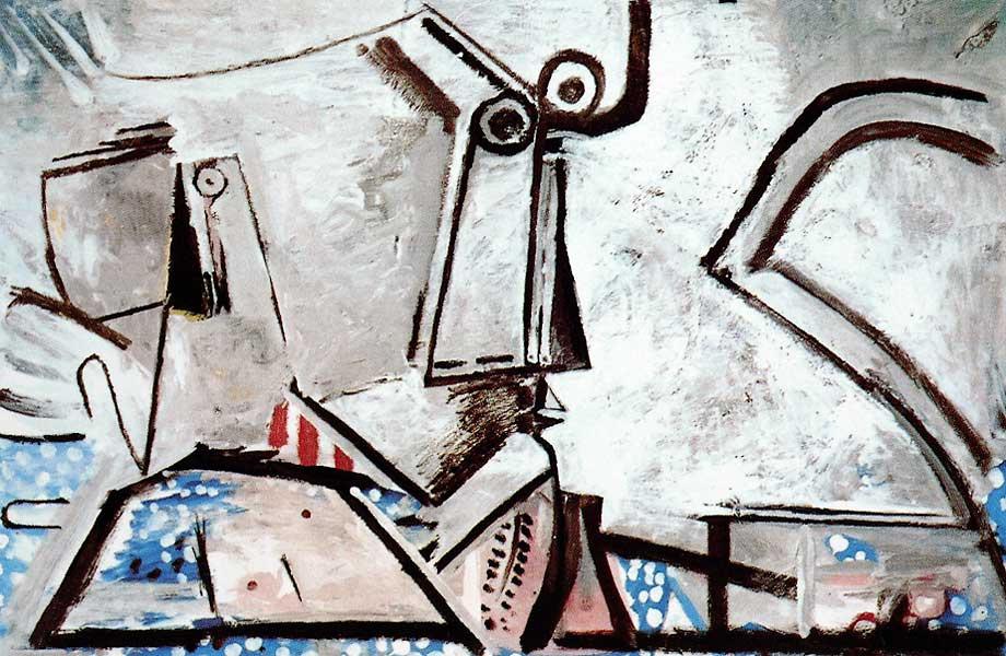 Пабло Пикассо. Лежащая обнаженная и голова