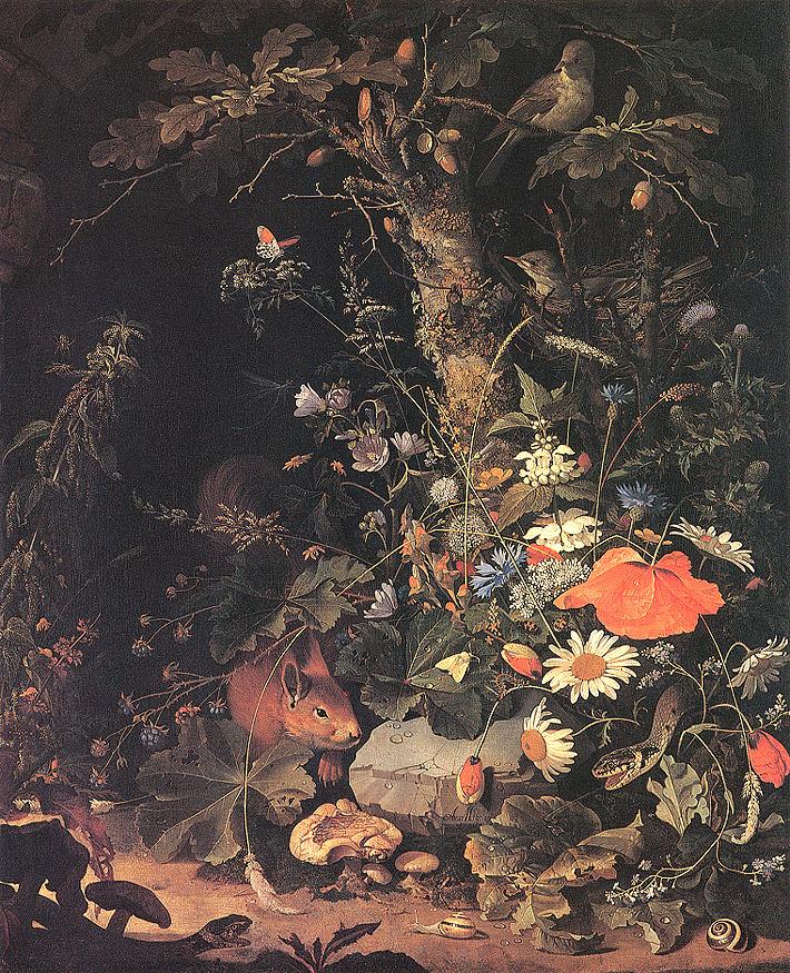 Авраам Миньон. Цветы, животные и насекомые