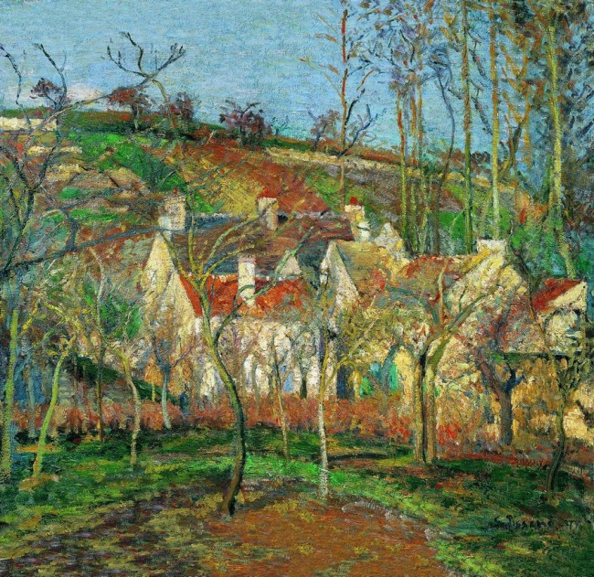 Camille Pissarro. Red roofs