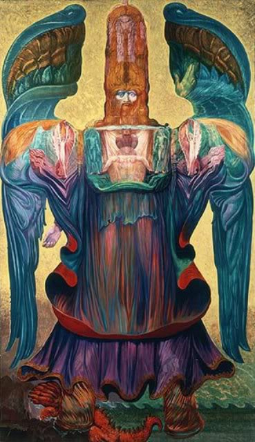 Ernst Fuchs. The Angel Of History. The project for the parish of St. egid parish Church of Klagenfurt