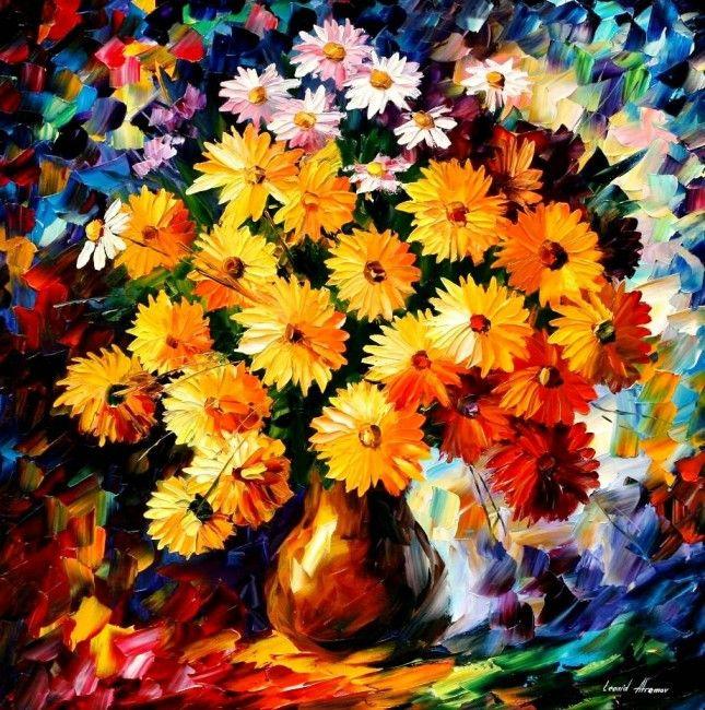 Leonid Afremov. Bouquet