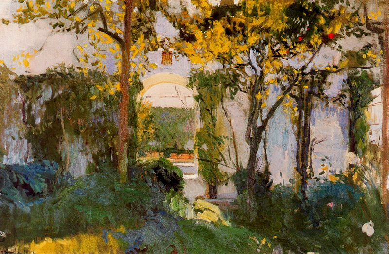 Хоакин Соролья (Соройя). Старый сад в Севильском алькасаре