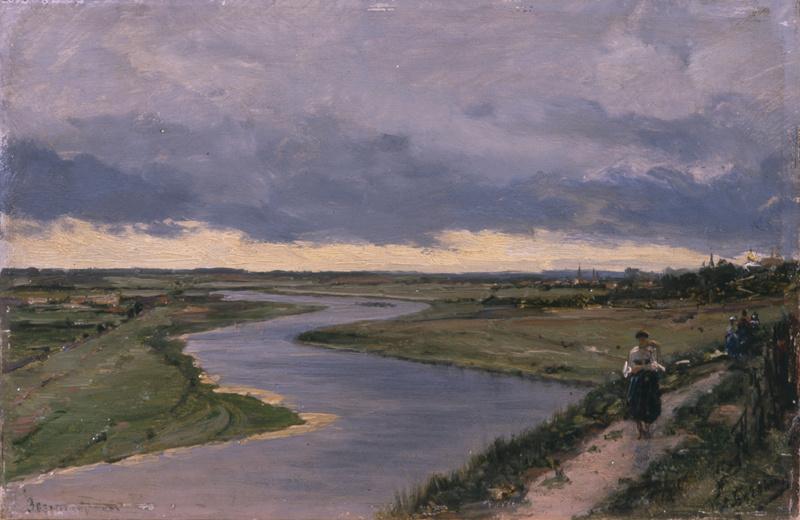 Алексей Петрович Боголюбов. Москва-река у Звенигорода
