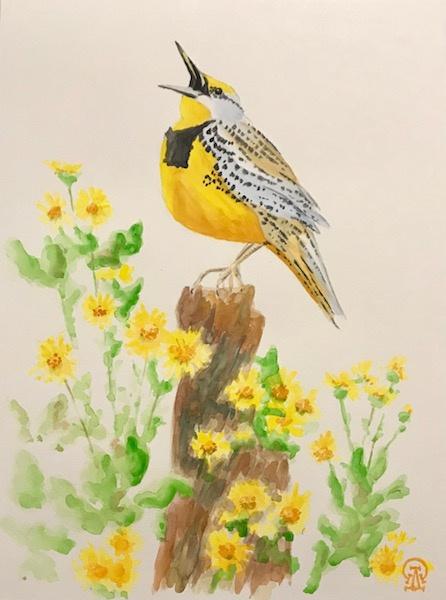 Larissa Lukaneva. Yellow bird